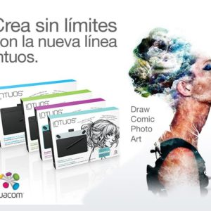 Tableta Digitalizadora Wacom Intuos Photo Pen & Touch chica Negro CTH490PK
