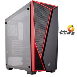 Gabinete Corsair Carbide Series SPEC-04 Mid-Tower, ATX (sin fuente de poder).