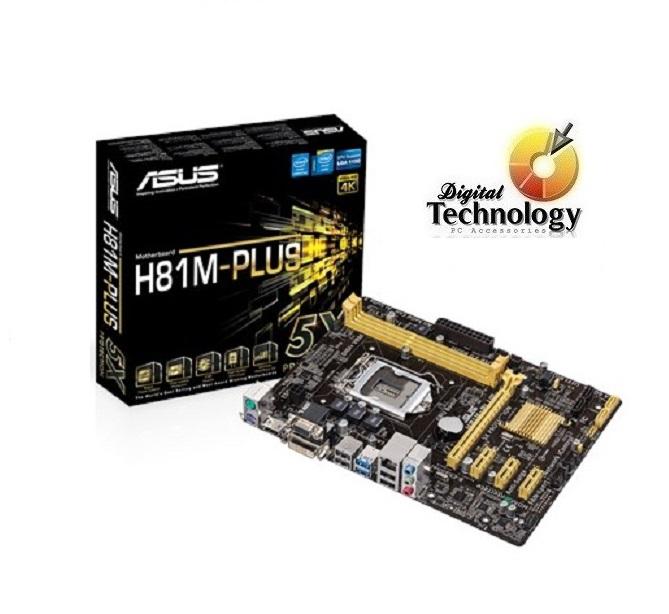 T. Madre ASUS H81M-D PLUS, Chipset Intel H81, Soporta: Core i7/i5/i3/Pentium