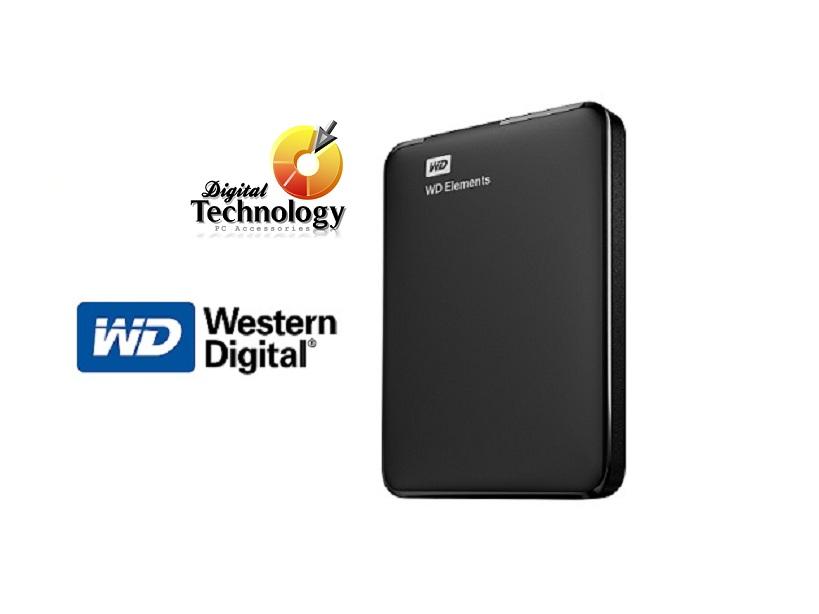 Disco Duro Externo Western Digital Elements Portátil 2.5'', 3TB, USB 3.0, Negro - para Mac/PC