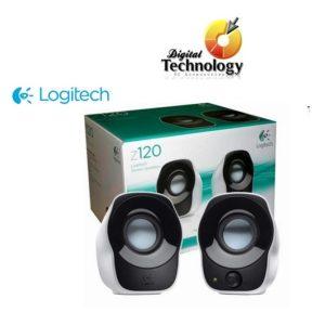 Bocinas Portátiles Logitech z120 2.0 canales para Laptop, Pc USB Color Negro