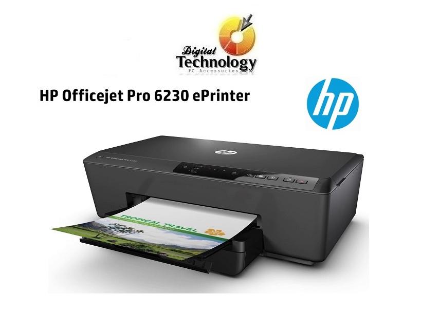 Impresora de inyección de tinta color HP Officejet Pro 6230, 600 x 1200 ppp, Wi-Fi, Ethernet, USB.
