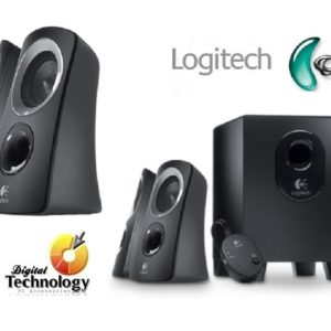Logitech Bocinas con Subwoofer Z313, 2.1, 50W RMS, color Negro Pc/mac/mp3/ipod/dvd