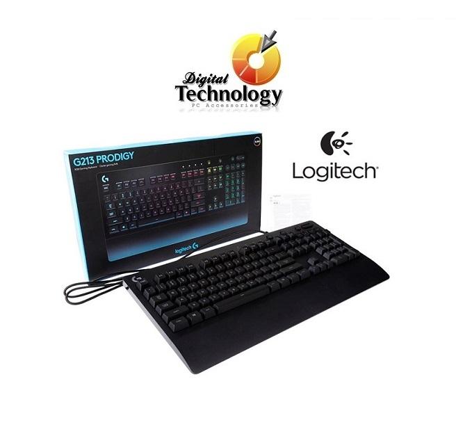 Teclado Gamer Logitech G213 Prodigy LED RGB, Alámbrico, Negro
