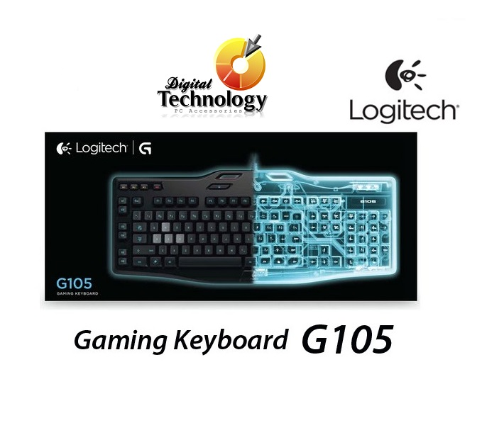 Teclado Logitech Gaming Keyboard G105 con teclas retroiluminadas, USB.