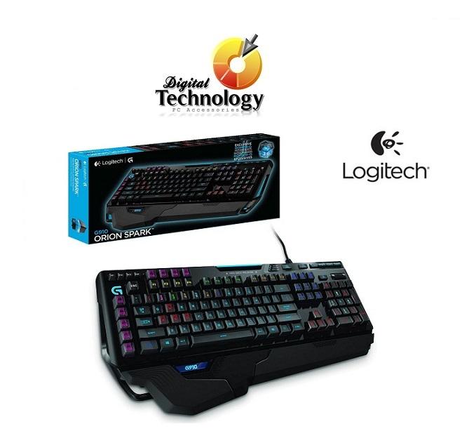 Teclado mecánico Gamer Logitech G910 Orion Spark con retroiluminación RGB, USB