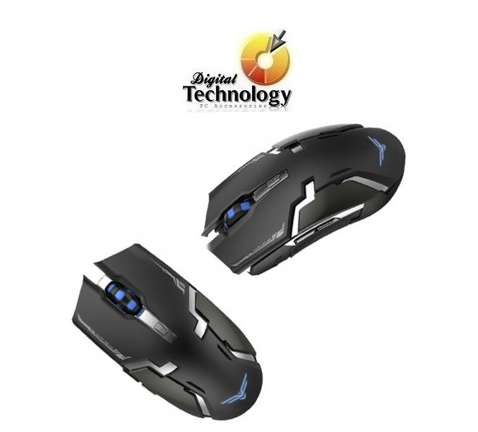 Mouse gamer Naceb NA-631, USB. Color Negro. InterfazReceptor USB