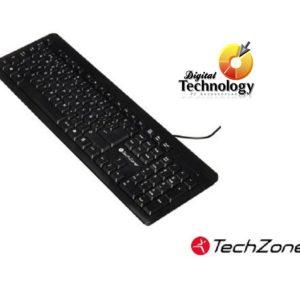 Teclado Techzone TZ16TEC01-ALA, Alámbrico, USB, Negro (Español)