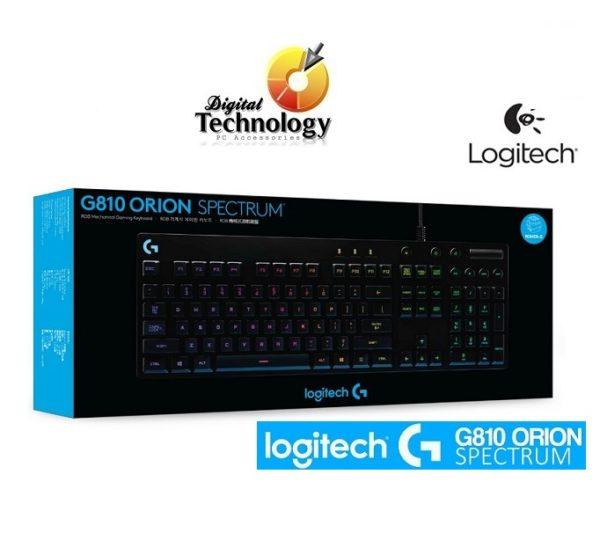 Teclado mecánico Logitech Orion Spectrum G810 con retroiluminación RGB, USB