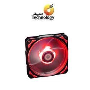 Ventilador Hip-Hop Dazzle Colour Series con Leds rojo, 120 mm.