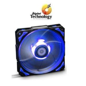 Ventilador Hip-Hop Dazzle Colour Series con Leds azul, 120 mm.