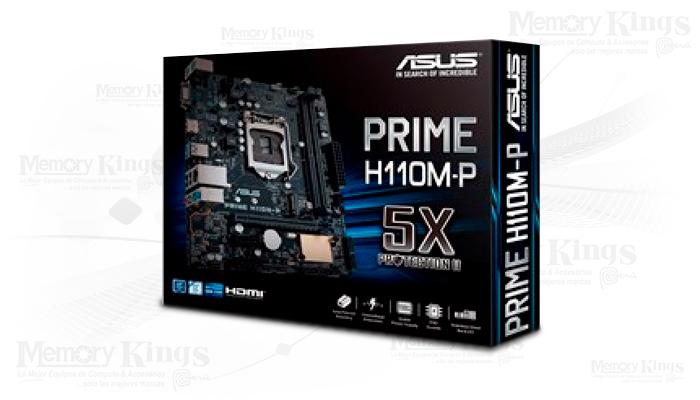 T. Madre Asus Prime H110M-P, ChipSet Intel H110, Soporta: Intel Core i7/Core i5