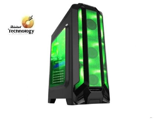 Gabinete EAGLE WARRIOR Gaming ROBOT Q Verde, ATX, (sin fuente de poder).