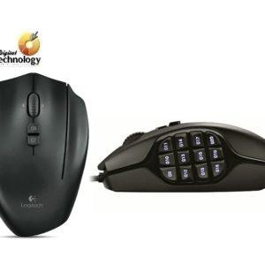 Mouse Gamer MMO Logitech G600, Láser de 8200 dpi con 20 botones e iluminación