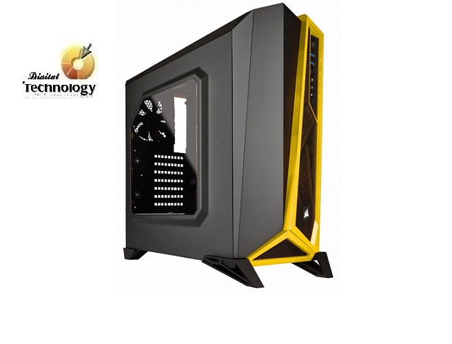 Gabinete Corsair Carbide SPEC-ALPHA Mid-Tower, ATX (sin fuente de poder).