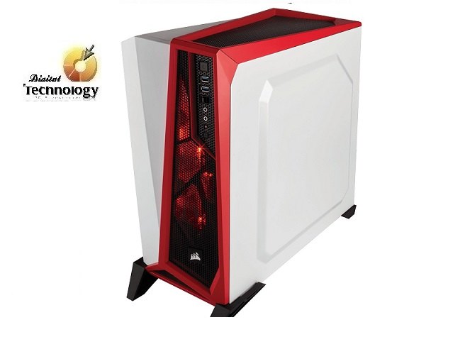 Gabinete Corsair Mid-tower Carbide SPEC-ALPHA White, ATX, (sin fuente de poder).