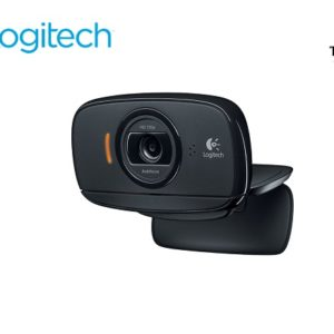 Logitech Webcam C525 con Micrófono, 8MP, 1280 x 720 Pixeles, USB 2.0, Negro