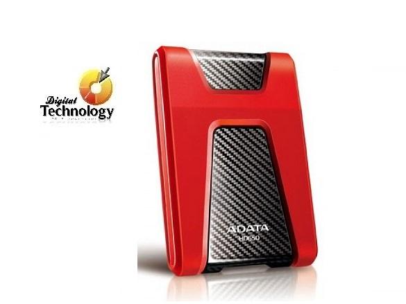 Disco Duro Portátil ADATA DashDrive Durable HD650 de 1 TB, resistente a golpes, USB 3.0.