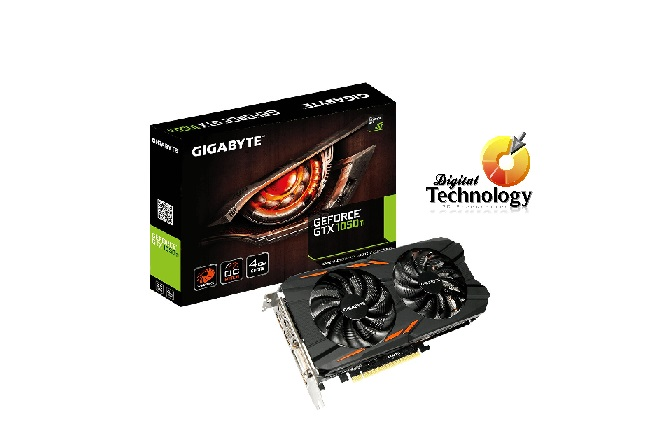 Tarjeta de Video NVIDIA Gigabyte GeForce GTX 1050Ti Windforce OC, 4GB GDDR5,
