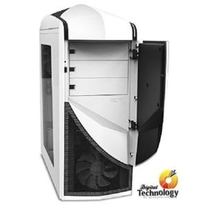 Gabinete Mid Tower NZXT Phantom 240, ATX. (no incluye fuente de poder). Color Blanco