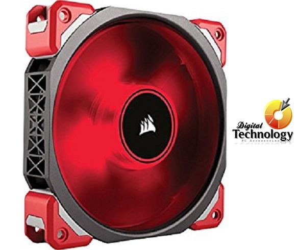 Ventilador Corsair ML120 PRO LED Rojo de levitación magnética de 120 mm.