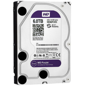 "Disco Duro para Videovigilancia Western Digital Purple 3.5"" – 6TB – SATA III – 6 Gbit/s – 64MB Cach"