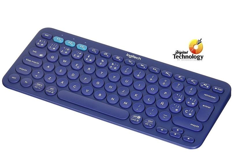 Teclado Logitech Mini Multidispositivo K380, Bluetooth, Azul