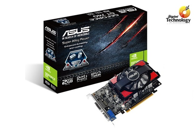 Tarjeta de Video NVIDIA ASUS GeForce GT 740 2GB GDDR3 HDMI DVI VGA PCI Express