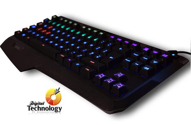 Teclado mecánico Logitech Atlas Spectrum G410 con retroiluminación RGB, USB.