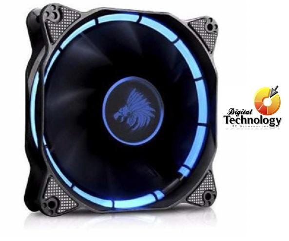 Ventilador Eagle Warrior Halo Fan con Leds Azules, 120 mm.