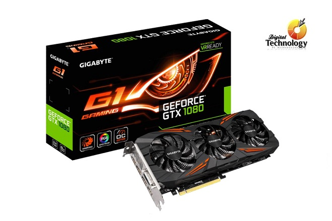 Tarjeta de Video NVIDIA Gigabyte GeForce GTX 1080 G1 Gaming, 8GB GDDR5X