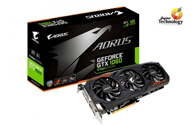 Tarjeta de Video Gigabyte Aorus Gtx 1060 6Gb Gddr5 Pci-E 3.0x16 Hdmi 3 Display Port