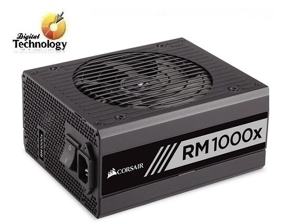 Fuente de Poder Corsair RM1000x de 1000W, ATX, 80 PLUS GOLD.