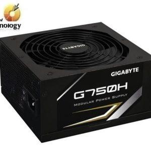Fuente de Poder Gigabyte G750H de 750W, ATX, 80 Plus Gold. Dimensiones 160 x 150 x 86 mm