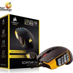 Mouse óptico Gamer Corsair Scimitar PRO RGB, hasta 16,000dpi, USB.