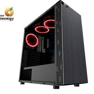 Gabinete EAGLE WARRIOR Gaming ROBOT M Rojo, ATX, (sin fuente de poder).