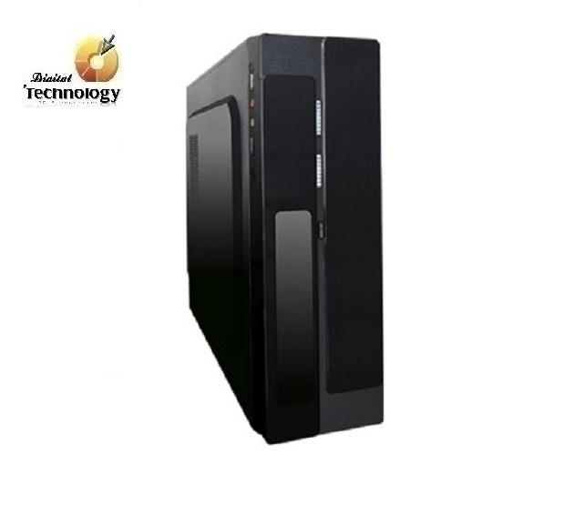 Gabinete Pixxo CM-01R2 con fuente de 450W, Micro ATX. Color Negro