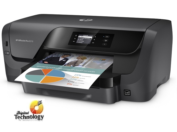Impresora de inyección de tinta a color HP Officejet Pro 8210, Wi-Fi, Ethernet, USB.
