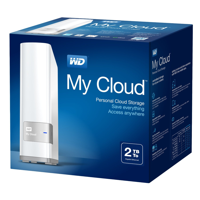Disco Duro Externo Western Digital My Cloud 2tb Ethernet Nas GRIS/BLANCO.