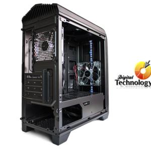 Gabinete Vorago Game Factor CSG500 Black-Red / Ventilador / Micro ATX (sin fuente de poder).
