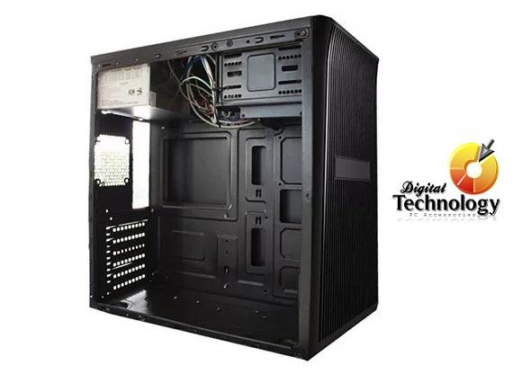 Gabinete KMEX CM3501, Micro-ATX, con fuente de 450W. Color Negro.