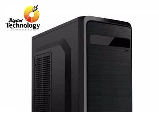 Gabinete KMEX CX 83T4 con fuente de 450W, Micro-ATX, Color Negro.