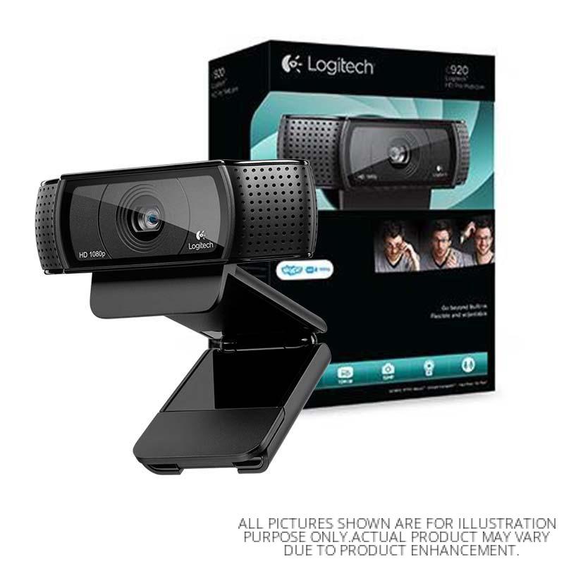 Logitech Webcam HD Pro C920 con Micrófono, FullHD, 1920 x 1080 Pixeles, USB 2.0, Negro