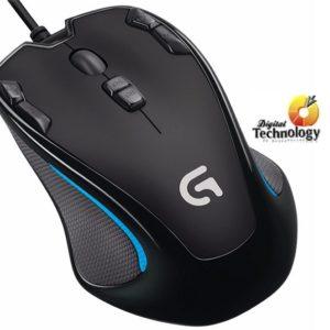Mouse Gamer Logitech G300S, 2500 dpi, 9 botones programables, USB.