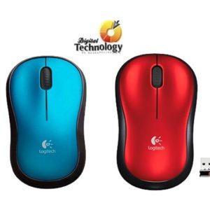 Mouse Logitech Óptico M185, Inalámbrico, USB, Colores: Azul , Rojo.