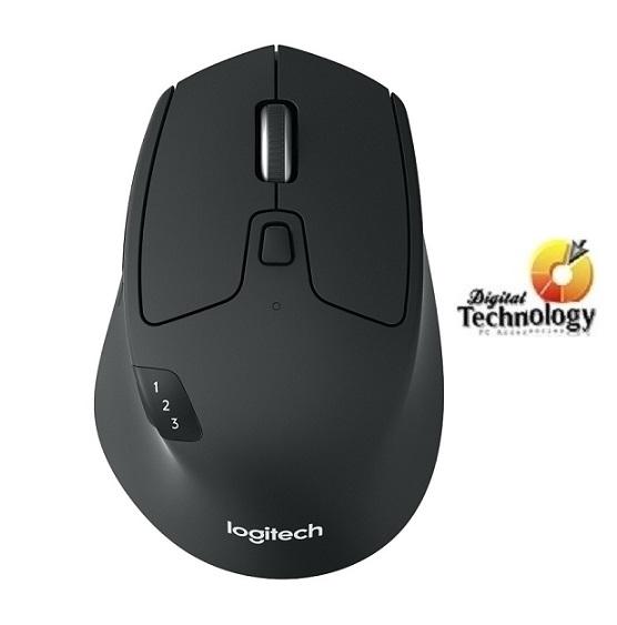 Mouse Logitech Óptico M720 Triathlon, Bluetooth, USB, 1000DPI, Negro