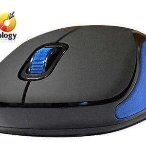 Mini mouse óptico inalámbrico NACEB NA-563, USB. Color Azul. Rango de Frecuencia 2.4 GHz
