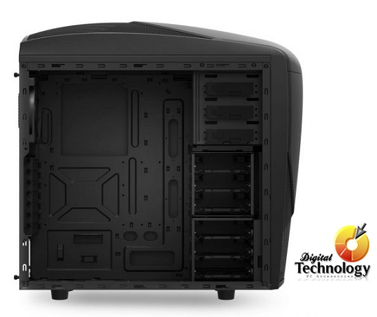 Gabinete Mid Tower NZXT Phantom 240, ATX. (no incluye fuente de poder). Color Negro.