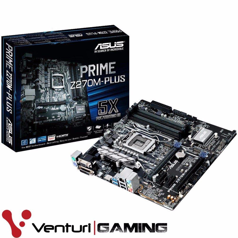 T. Madre Asus PRIME Z270M-PLUS, Intel Core i7/i5/i3/ Pentium de 6ta y 7ma gen