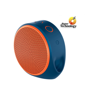 Bocina Portátil Logitech X100 – Inalámbrica – Bluetooth - Naranja / Azul